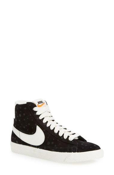 reputable site 0df86 cedb0 'Blazer' Vintage High Top Basketball Sneaker (Women) in Black/ Sail