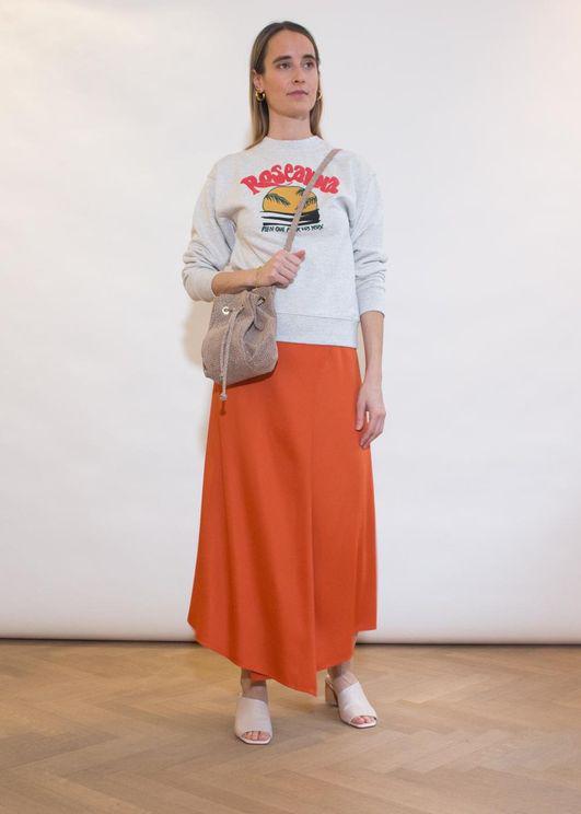 Aeron Portdebras Wrap Skirt - Tangerine In Orange