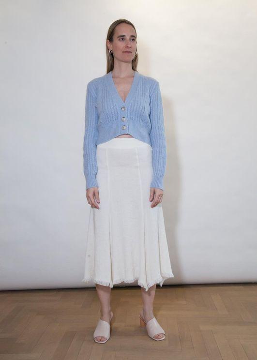 Aeron Carp Skirt - Cream In White