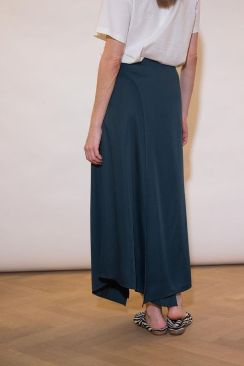 Aeron Portdebras Wrap Skirt - Dark Green