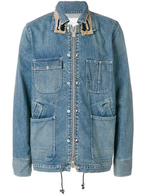 Sacai Men's Light Blue Denim Jacket
