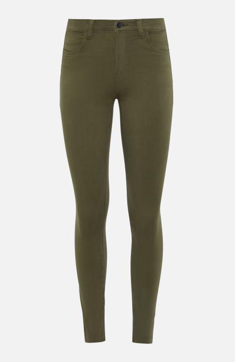 J Brand Alana High Rise Cropped Skinny Jeans In Khaki In Green