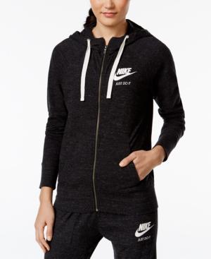 Nike Gym Vintage Full-Zip Hoodie In Black