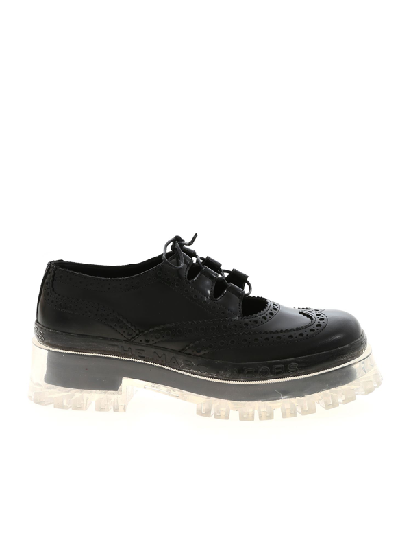 Marc Jacobs Brogue The Ghille Shoe In Black
