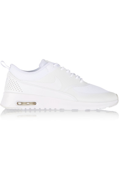 Nike Woman Air Max Thea Mesh And Leather Sneakers White In White White