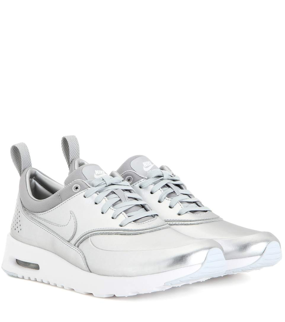 352cff57aa0c6 Nike Women S Air Max Thea Se Running Sneakers From Finish Line In Silver  Metallic