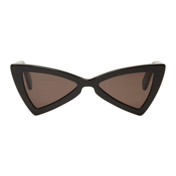 Saint Laurent New Wave 207 Jerry Triangular Sunglasses In Black