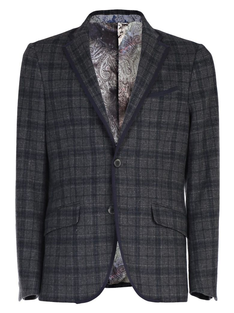 Etro Blazer In Blue