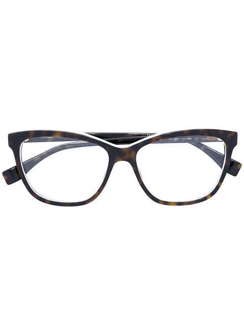 Fendi Eyewear Cat-eye Glasses - Brown