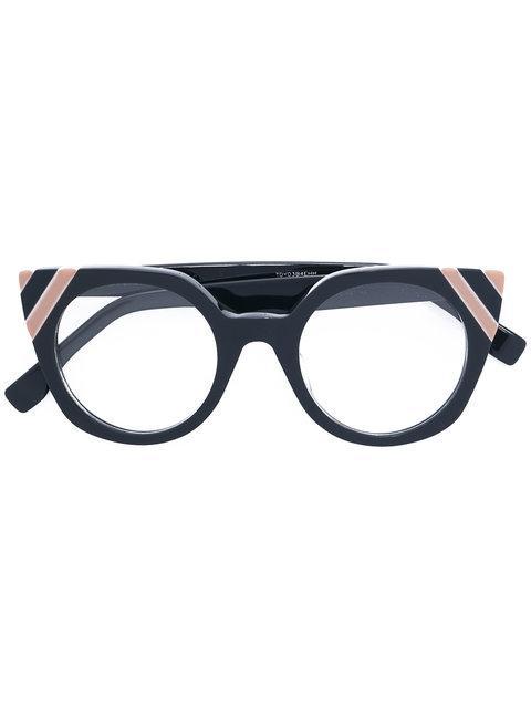 Fendi Eyewear Cat Eye Glasses - Grey