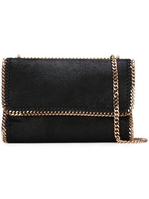 Stella Mccartney Falabella Shaggy Deer Faux Leather Shoulder Bag - Black