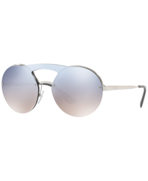 ceffb8a73b Prada Cinema Evolution Mirrored Round Sunglasses