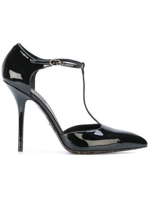 Dolce & Gabbana High Heel Strap Pumps - Black