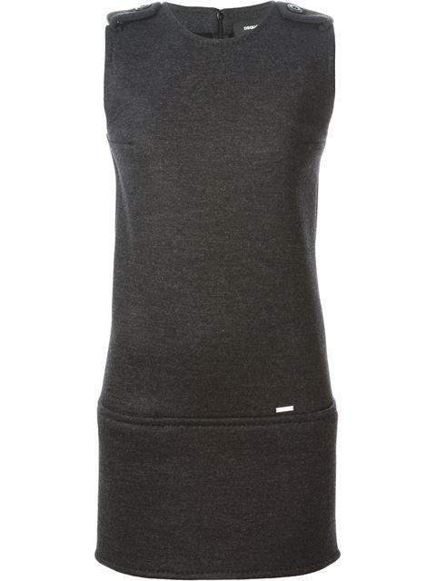 Dsquared2 Sleeveless Dress In Steel Grey