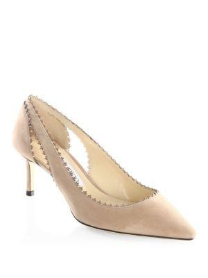 Jimmy Choo Diva 60 Suede Pumps In Ballet