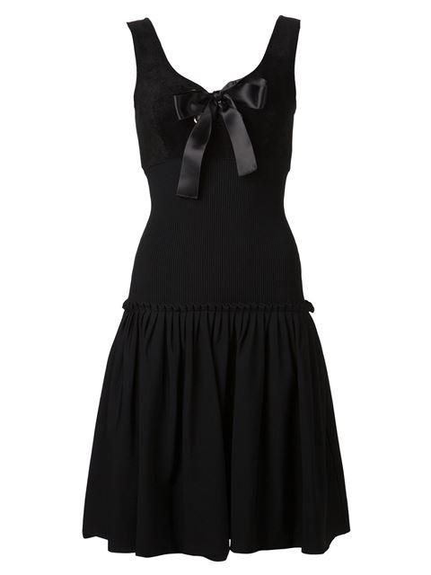 Alexander Mcqueen Bow Embellished Dress In Black
