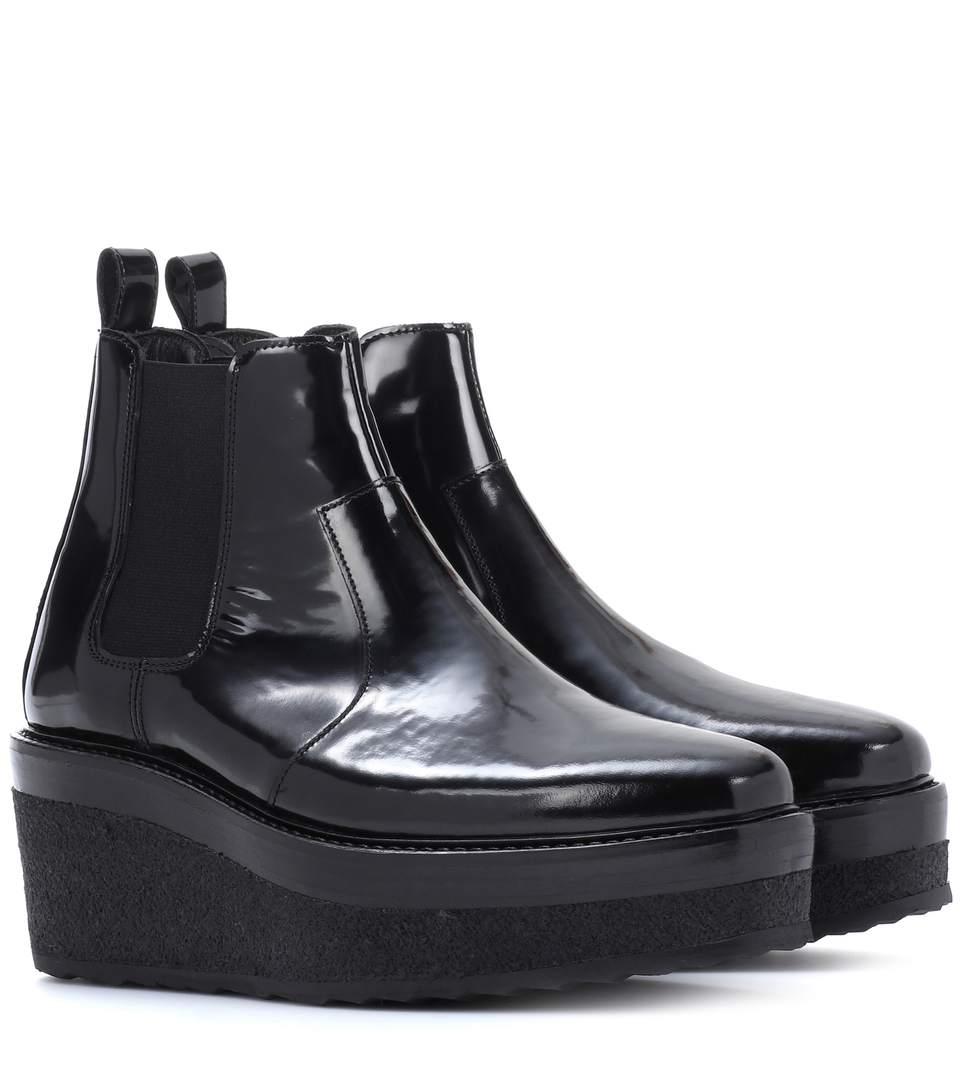 Pierre Hardy Jodhpur Polished Leather Platform Boot, Black