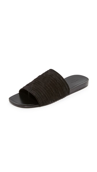 9258018c5d87e8 Rag   Bone Cameron Suede Slide Sandals - Black