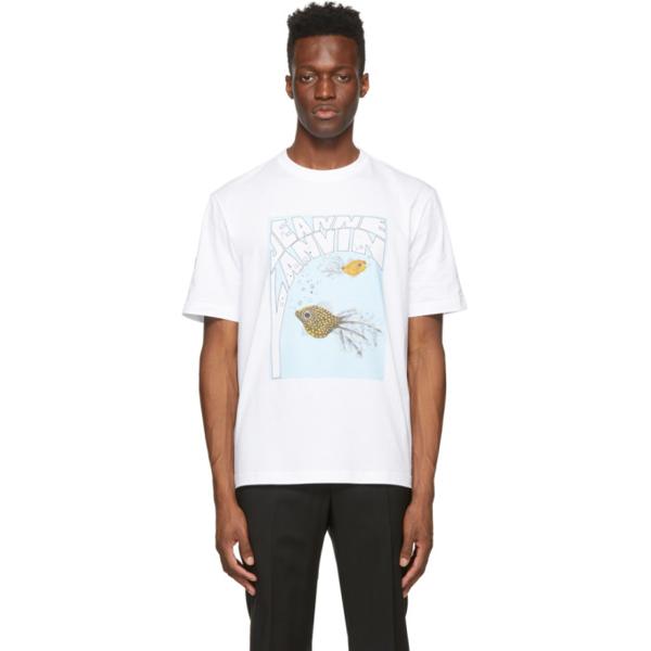 Lanvin White Logo T-shirt In 01 Optic White