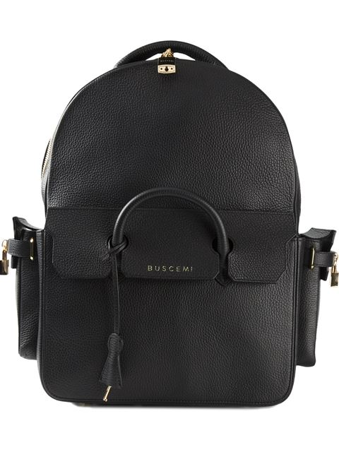 Buscemi Phd Large Leather Backpack In Black