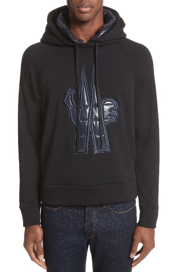 99ca3500fe8c Moncler Grenoble Logo Patch Hooded Sweatshirt In Navy
