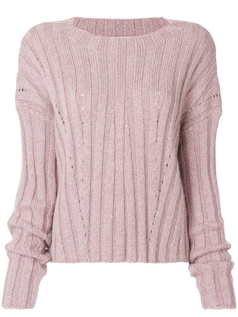 Dondup Classic Knitted Top - Pink & Purple