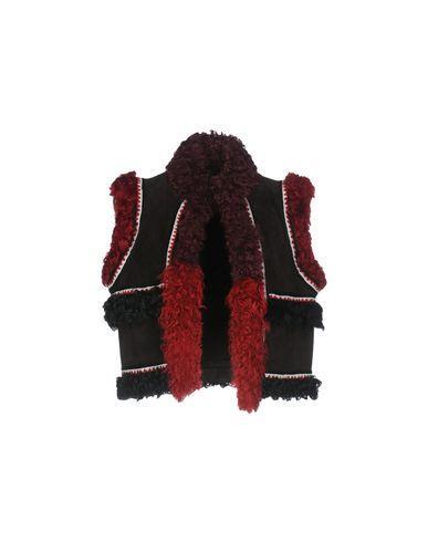 Dsquared2 Faux Fur & Shearling In Dark Brown