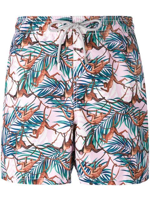 Mc2 Saint Barth Gustavia Swim Shorts In Multicolour