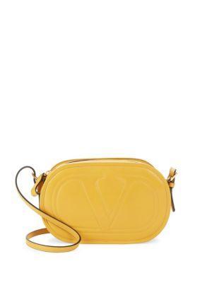Valentino Rockstud Leather Crossbody Bag In Multi