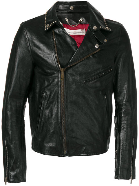 Golden Goose Berry Leather Jacket In Black