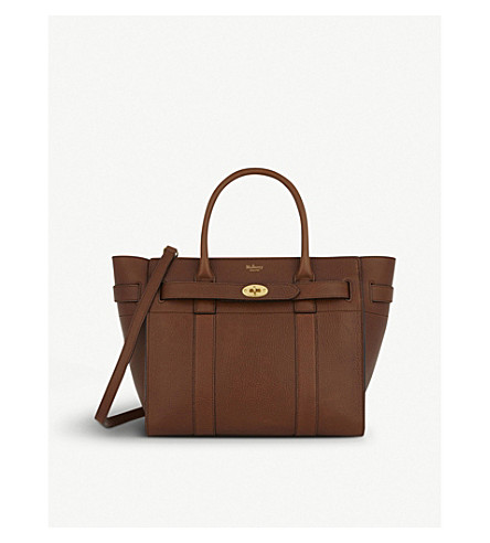 Mulberry Bayswater Small Grained Leather Tote In Oak