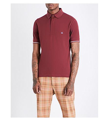 Vivienne Westwood Logo-Embroidered Cotton-PiquÉ Polo Shirt In Red