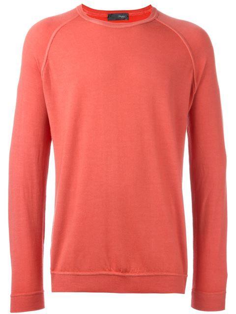 Drumohr Fine Knit Sweater In Red
