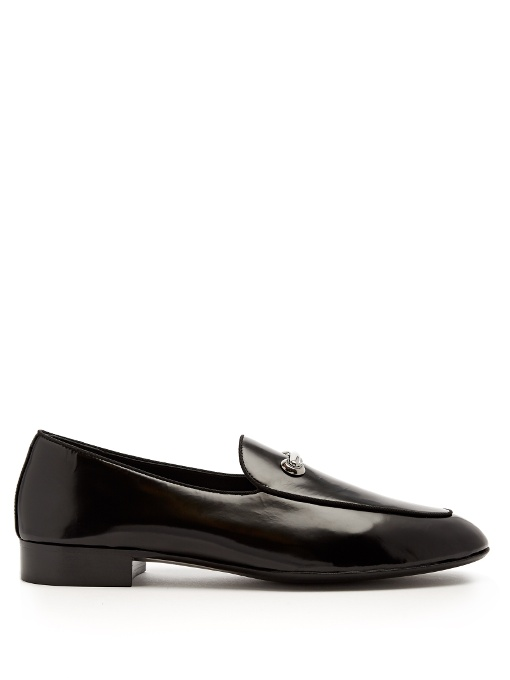 Giuseppe Zanotti Archibald Leather Loafers In Black