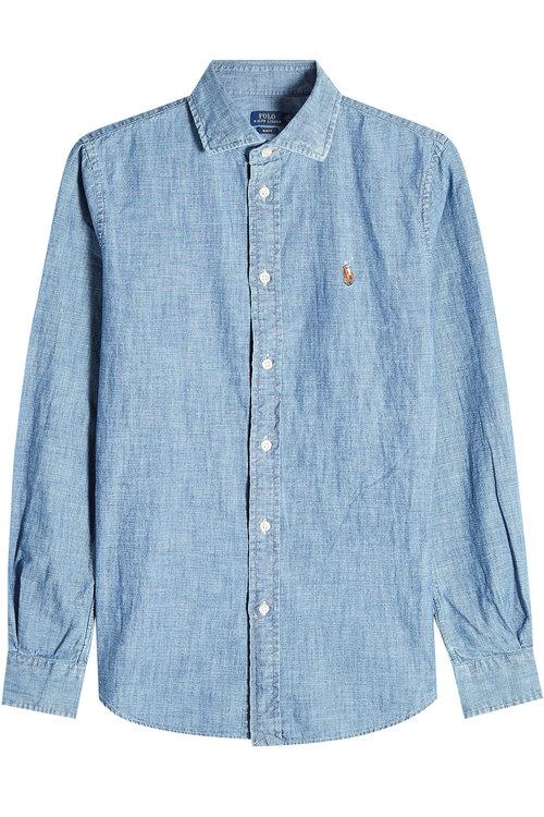 Polo Ralph Lauren Chambray Shirt In Blue