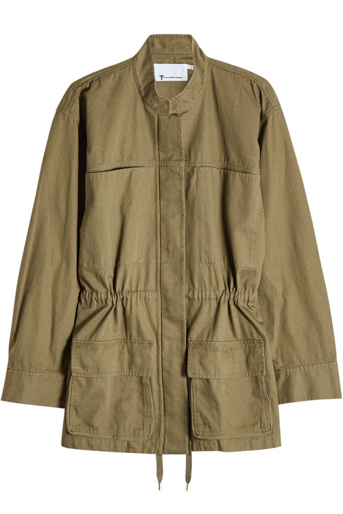 T By Alexander Wang Cotton-canvas Jacket In Green