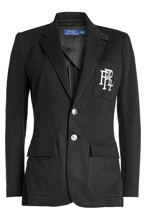 Polo Ralph Lauren Blazer With Cotton In Black