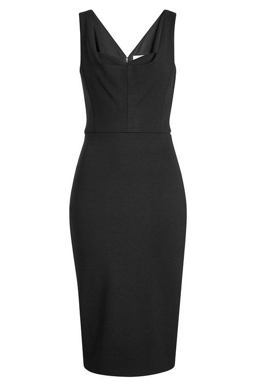 Victoria Beckham Tailored Pencil Dress In Black
