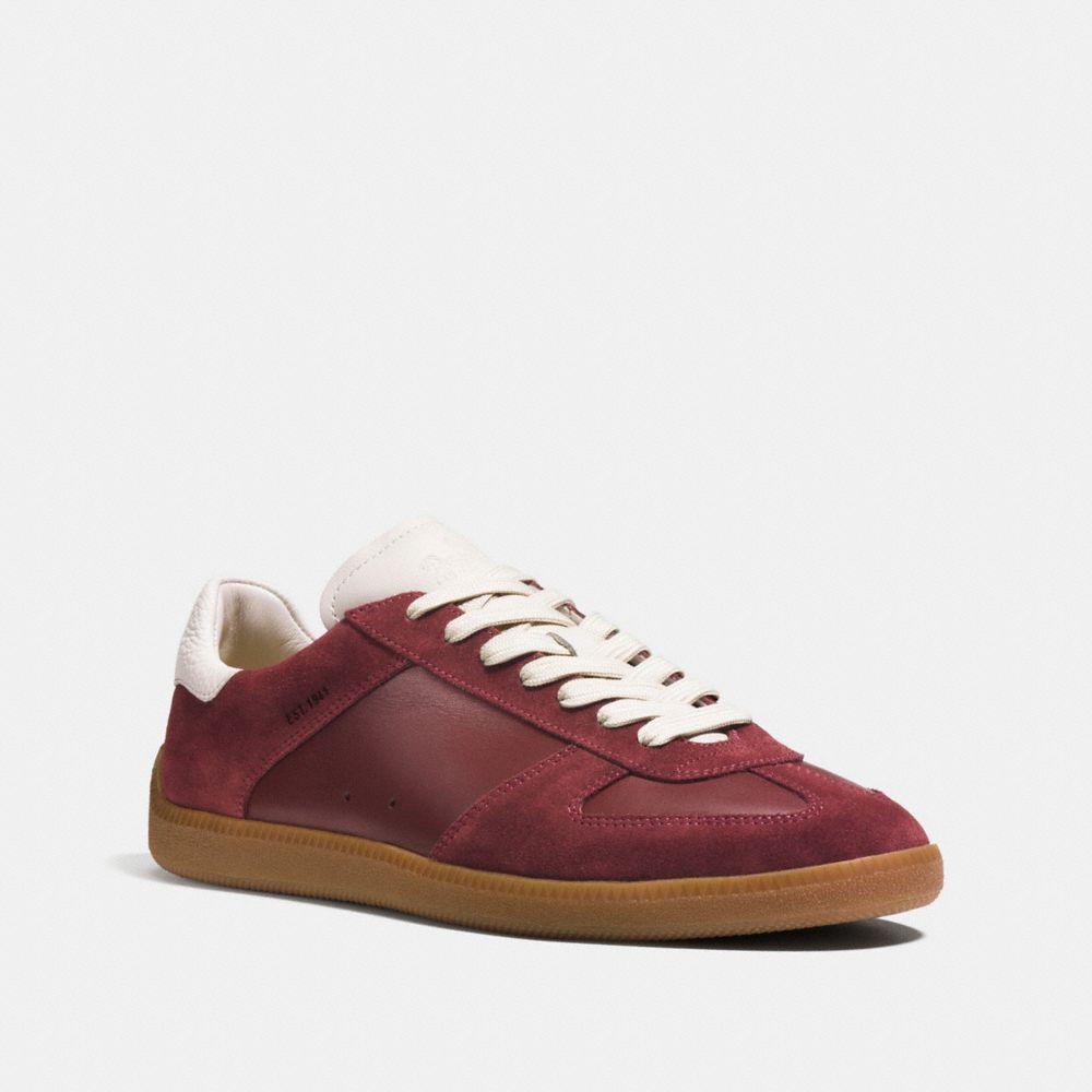 Coach C104 Sneaker In Brick Red/white