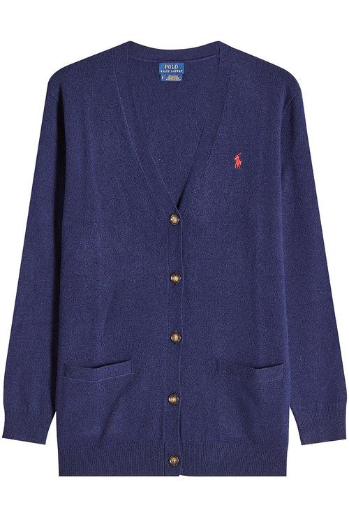 Polo Ralph Lauren Wool Cardigan In Blue