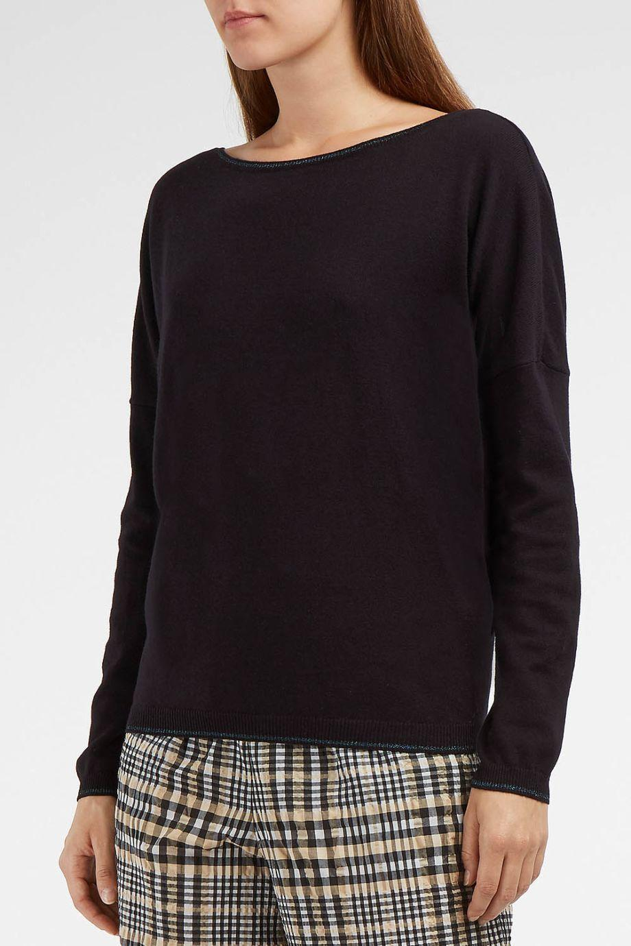 Paul & Joe Pullover With Cotton, Wool And Metallic Thread In Blue
