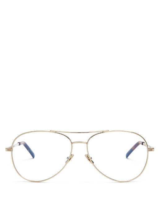 a0b26fe307bef Saint Laurent Aviator Glasses In Gold