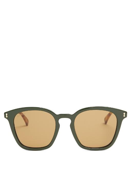 Gucci Square-frame Acetate Sunglasses In Green