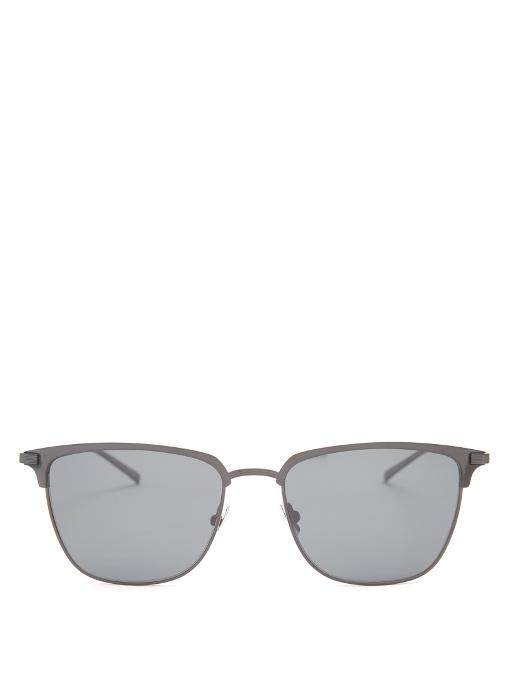 Saint Laurent D-frame Titanium Sunglasses In Black
