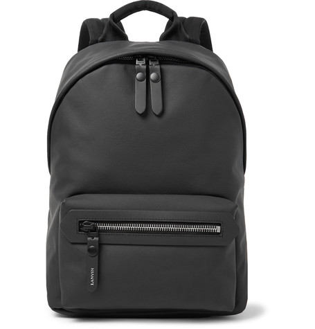 Lanvin Smooth Grained-leather Backpack In Black