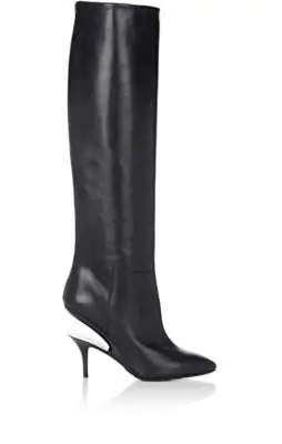 Maison Margiela Suspended-Heel Leather Knee-High Boots In 961 Black