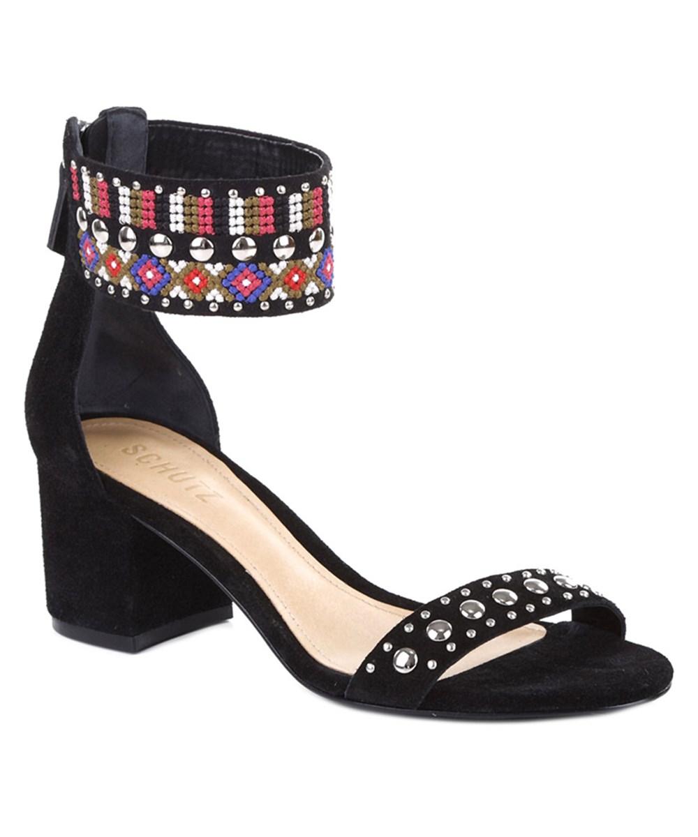 Schutz Naharis Suede Sandal In Black