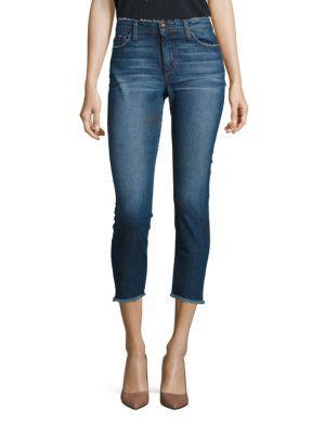 Joe's Jeans Blondie Skinny Frayed Step Hem Cropped Jeans In Corynna