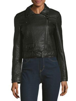 Joe's Jeans Textured Long-sleeve Moto Jacket In Black