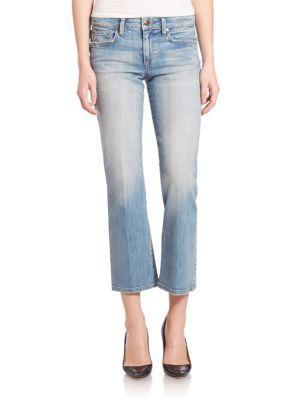Joe's Jeans Olivia Light Flare Cropped Jeans In Mimi
